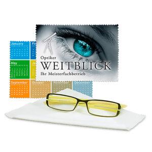 Lingette microfibre personnalisée pour lunettes
