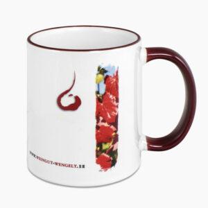 Mug anse et rebord coloré personnalisable avec photo et texte