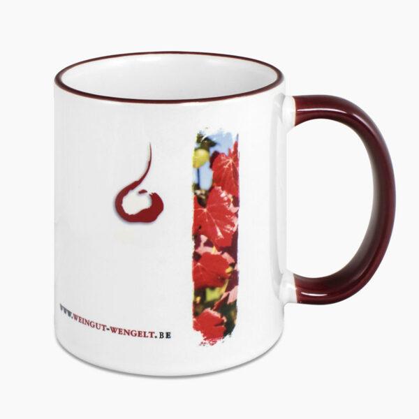 Mug rebord coloré personnalisé