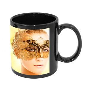 Mug personnalisé en céramique noir