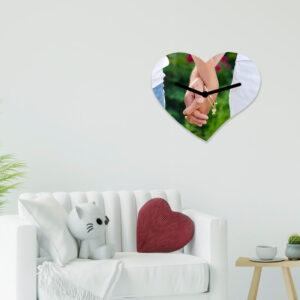 Horloge murale coeur personnalisée