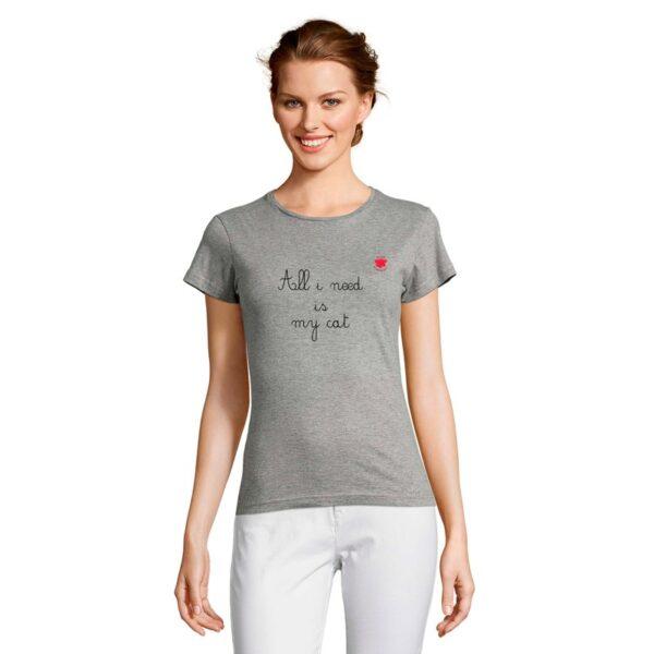 Tshirt femme uni personnalisé