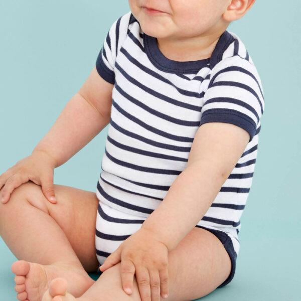 Body marinière bébé personnalisé