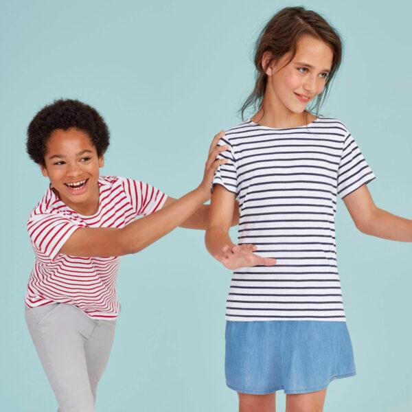 T-shirt marinière enfant personnalisé