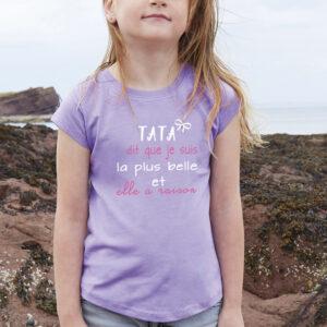 Tee shirt fille personnalisé