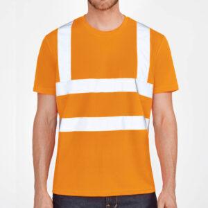 Tee-shirt de chantier fluorescent personnalisé