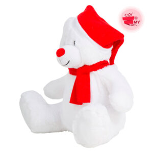 Peluche Ours de Noël personnalisée