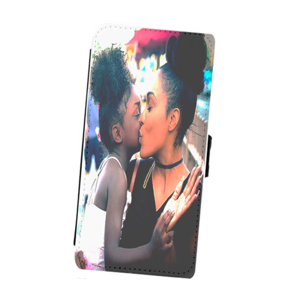 Coque portefeuille iPhone personnalisable en cuir synthétique