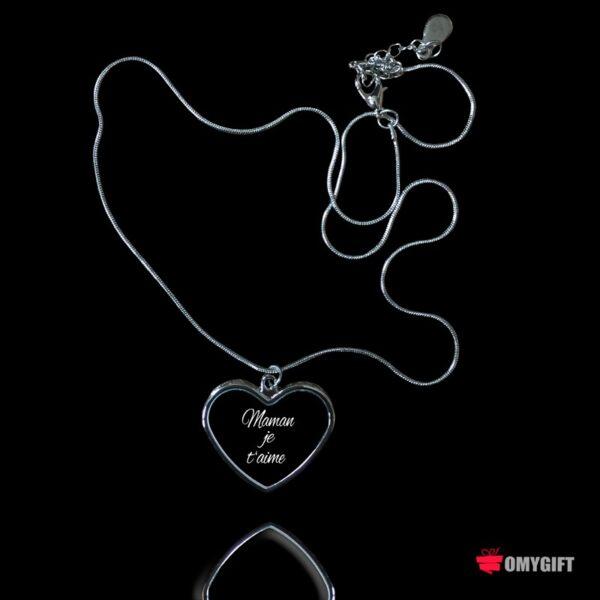 Collier pendentif cœur personnalisé