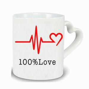 Mug anse cœur 100% Love