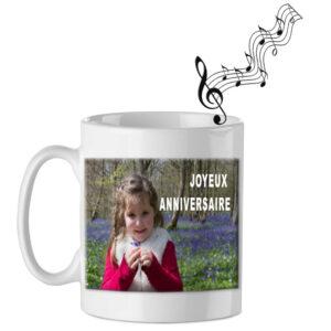 Mug musical personnalisé à votre image