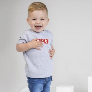 Tee-shirt mixte bouton-pression personnalisé pour bébé.