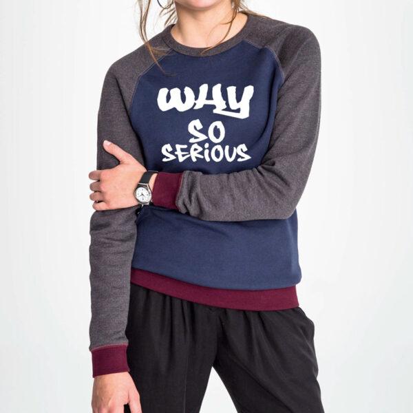 Sweat-shirt tricolore unisexe personnalisé