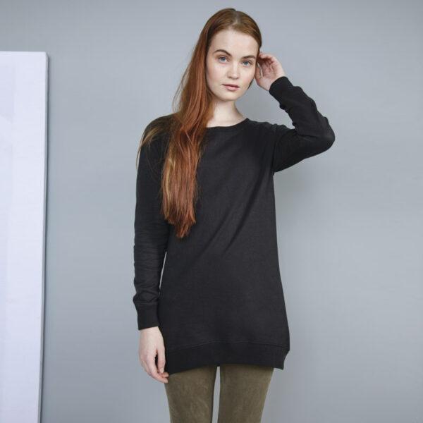 Sweat-shirt taille longue unicolore personnalisé