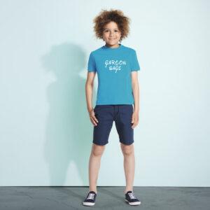 Tee-Shirt uni col rond personnalisé pour Enfant
