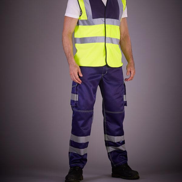 Pantaloncargode sécurité réfléchissantpour chantier