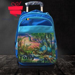 Cartable-sac à dos à roulettes écolier personnalisé