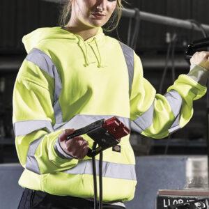 vêtement fluorescent sweat à capuchepersonnalisé