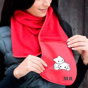 écharpe avec poche zippée personnalisée