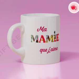 Mug personnalisé mamie qu'j'aime
